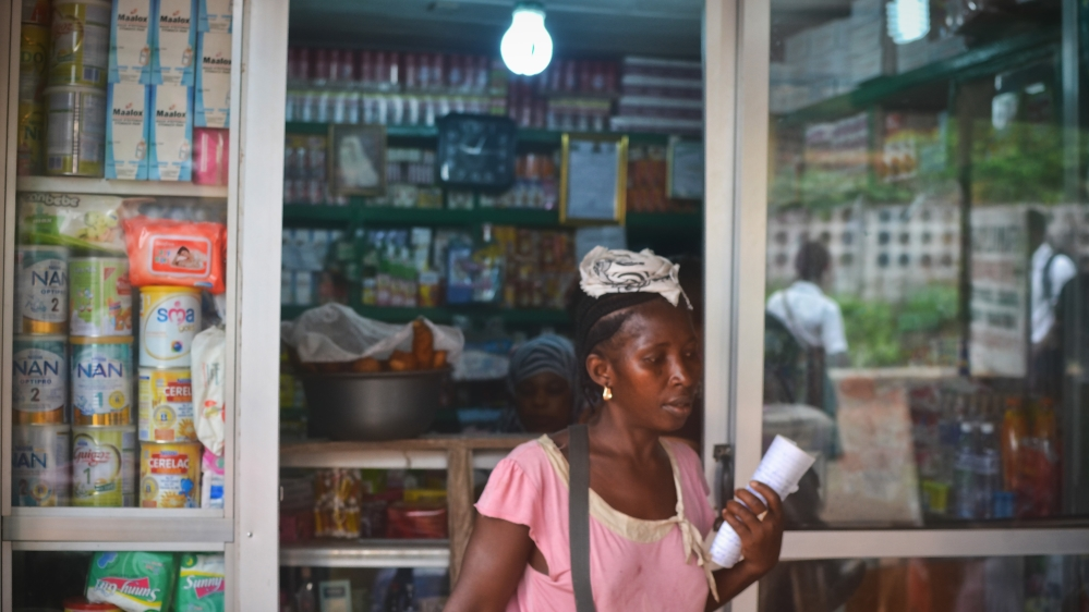 Tramadol is believed to be sold under the table without prescriptions by street hawkers and in local pharmacies in Sierra Leone [Cooper Inveen/Al Jazeera]
