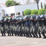 PIC. 6. CROSS SECTION OF POLICE OFFICERS IN TACTICAL DEMONSTRATION IN PREPARATION FOR   PEACE KEEPING TO LIBERIA AND SUDAN  IN ABUJA ON TUESDAY (19/11/13).