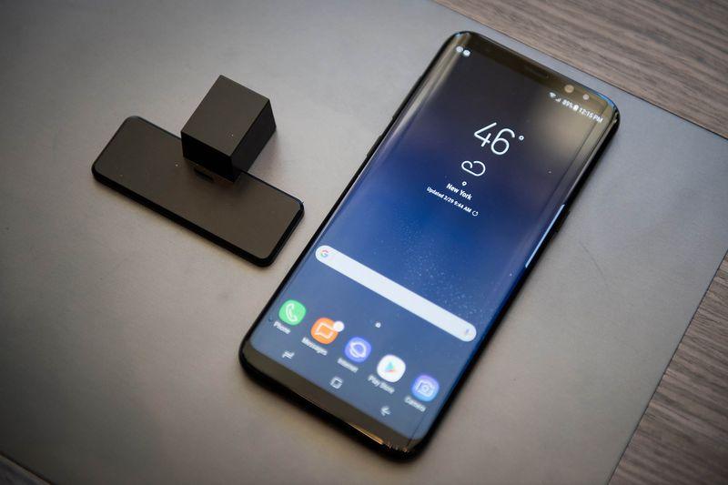 The Samsung Galaxy S8+ smartphone. Photographer: Mark Kauzlarich/Bloomberg