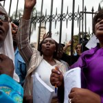 women march, kenya