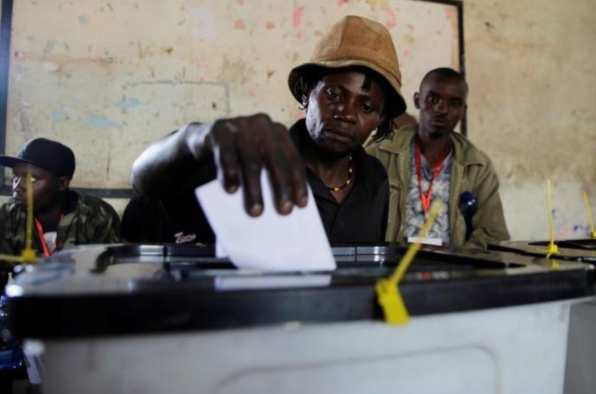By John Ndiso 3 Min Read A man casts his ballot during, the Jubilee Party primary elections, inside a polling centre in Nairobi, Kenya April 26, 2017.