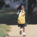child walking to school