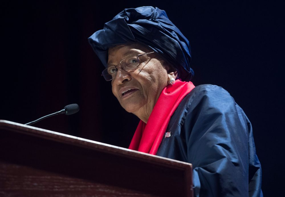 Ellen Johnson Sirleaf Photographer: Saul Loeb/AFP via Getty Images