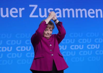 Angela Merkel Photographer: Krisztian Bocsi/Bloomberg