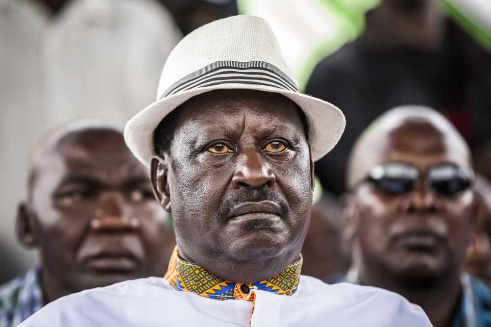 Raila Odinga Photographer: Luis Tato/Bloomberg