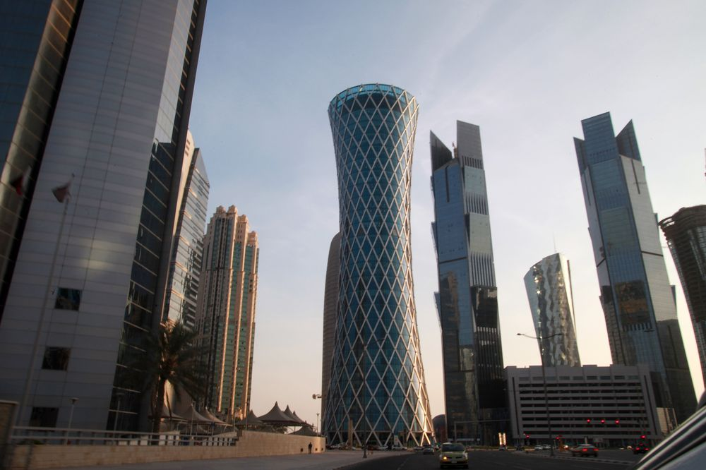 Skyscrapers stand on the city skyline in Doha, Qatar. Photographer: Gabriela Maj