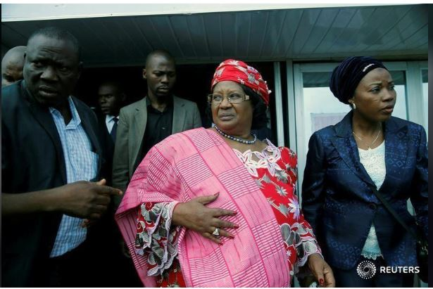 Former President of Malawi Joyce Banda. REUTERS/Akintunde Akinleye/File Photo