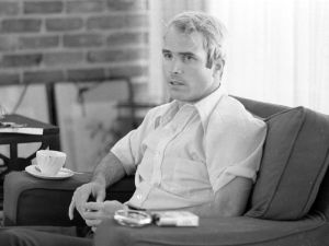 McCain during a interview on April 24, 1973. Photographer: Thomas O'Halloran/PhotoQuest/Getty Images
