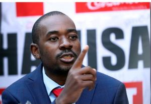 Opposition Movement for Democratic Change (MDC) leader Nelson Chamisa addresses a media conference following the announcement of election results in Harare, Zimbabwe, August 3, 2018. REUTERS/Mike Hutchings