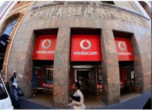 A branch South African mobile communications provider Vodacom is shown in this picture taken November 10, 2015. REUTERS/Mike Hutchings/File Photo