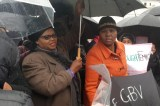 Shelters For Abused Women Protest Outside SA Parliament