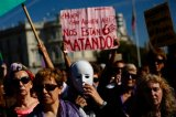 Thousands Gather In Madrid To Protest Violence Against Women