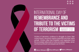 The Remembrance And Tribute To The Victims Of Terrorism