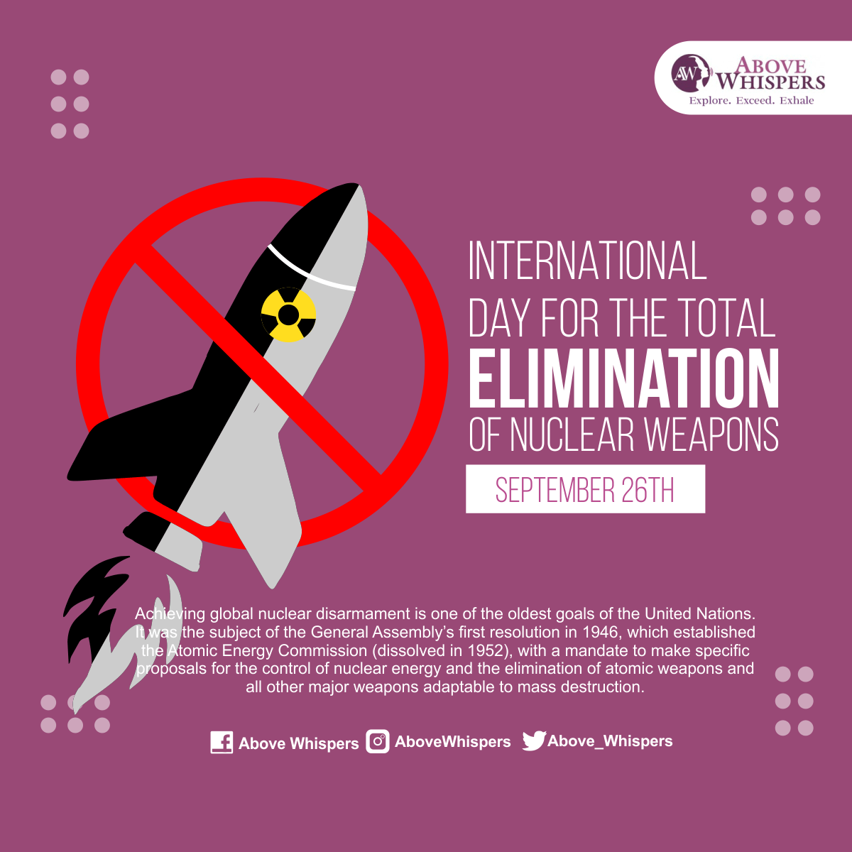 International Day for Elimination of Nuclear weapons 1