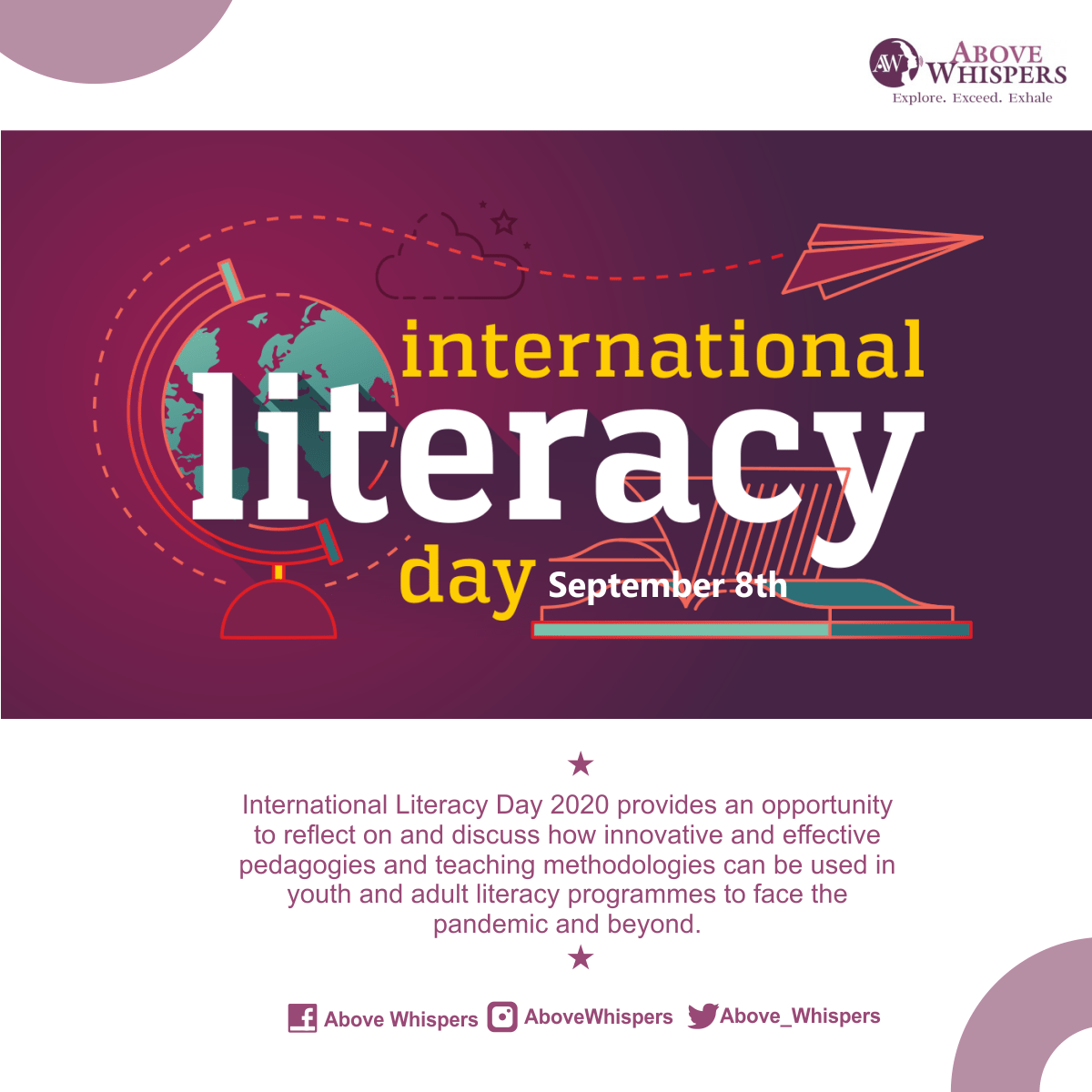 International Literacy day 1