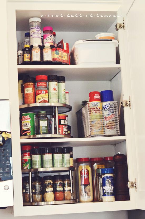 Organizing Spices  A Bowl Full Of Lemons