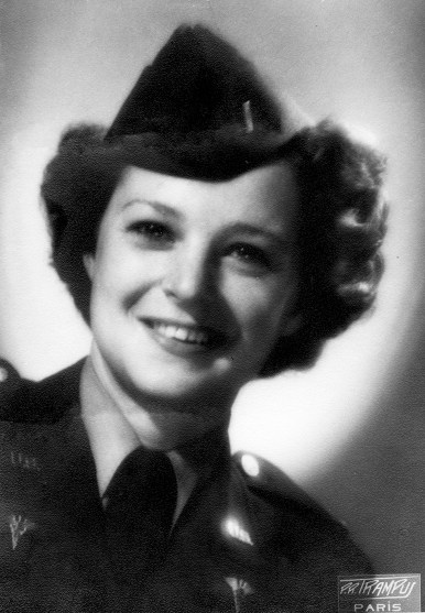 1945 - May or June - Lt. Evelyn Cole in Paris on leave from the Army's 221 General Hospital based in Chalons-sur-Marne