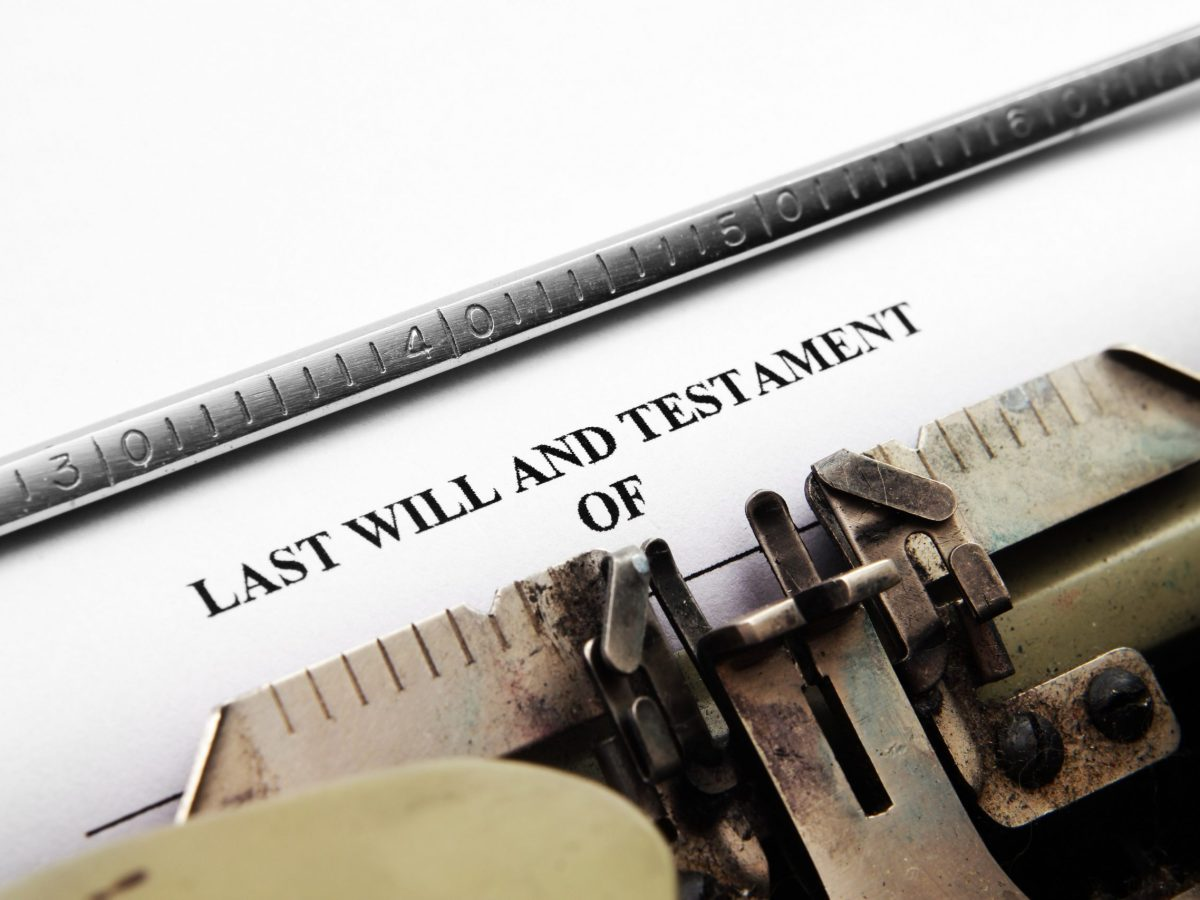 Last will and testament,