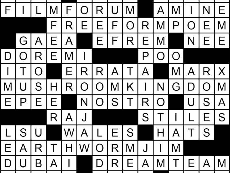 """""""On the M-end"""" crossword answers"""