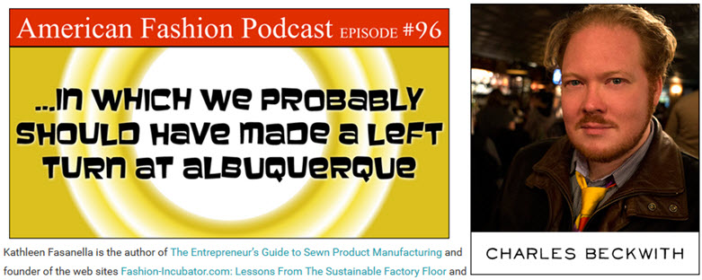 Apparel Manufacturing Boot Camp -the podcast edition