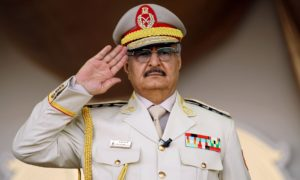 Khalifa Haftar insists he should take over as military leader until a new prime minister is elected. Photograph: Abdullah Doma/AFP/Getty Images