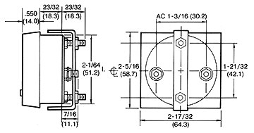 8505Z Panel Meter AC Current 0-30 A