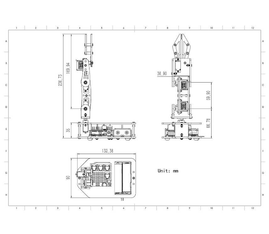 SF-ROLLARM Robotic Arm Kit 4-Axis for Arduino