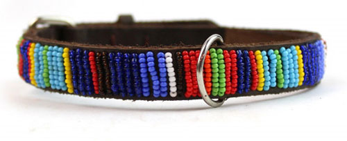 Beaded Aspiga vertical stripe collar