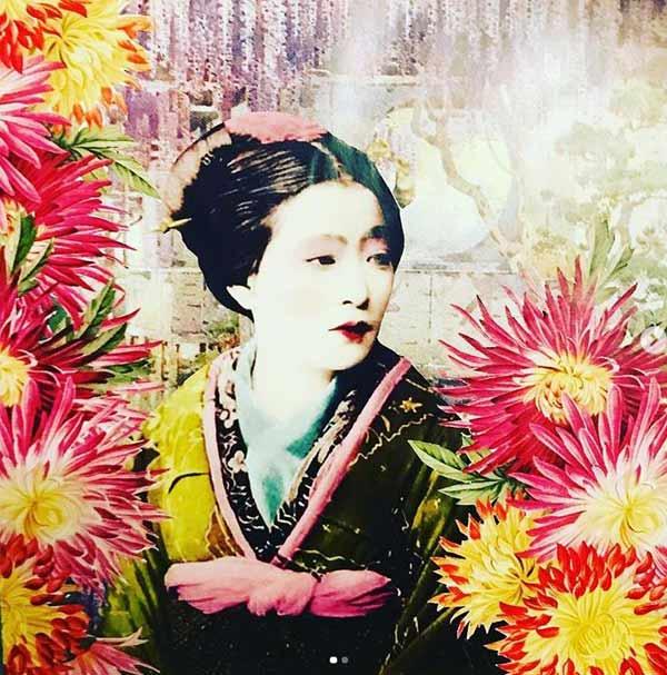 Diana Wilson Arcana Geisha velvet cushion & card design