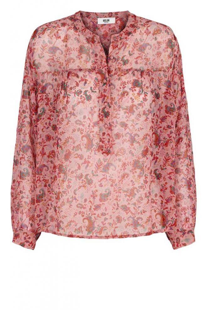 Ottod'Ame poplin midi-dress with drawstring