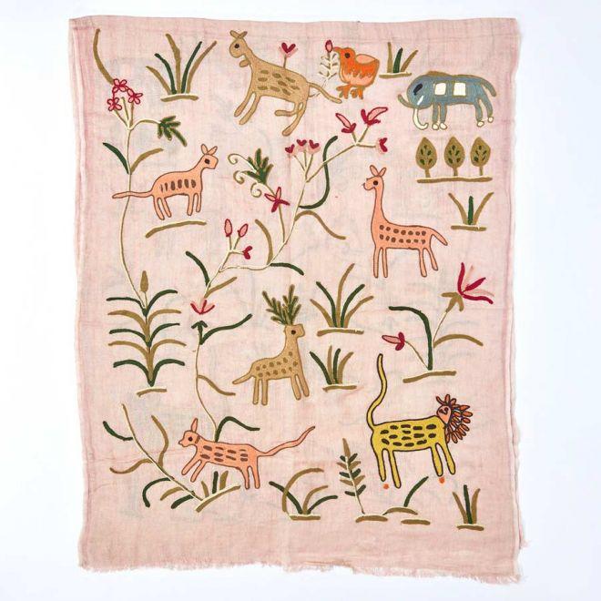 My Doris linen scarf pink