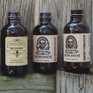 Abraham's after shave comes in