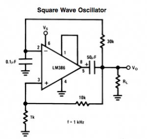 LM386 Square-wave Oscillator