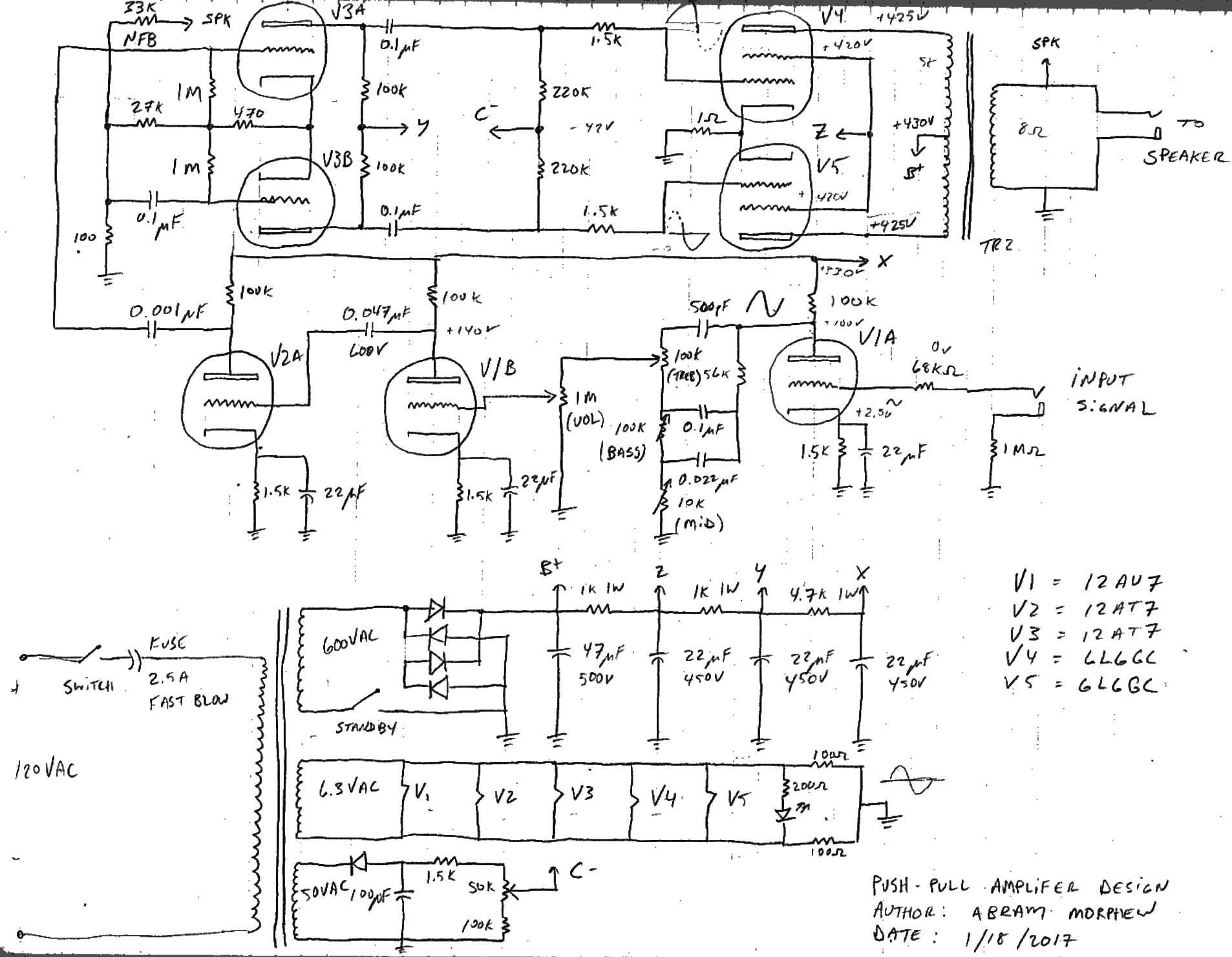hight resolution of 6l6gc amp schematic