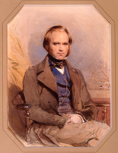 A portrait of 31-year-old Charles Darwin by George Richmond in 1840.