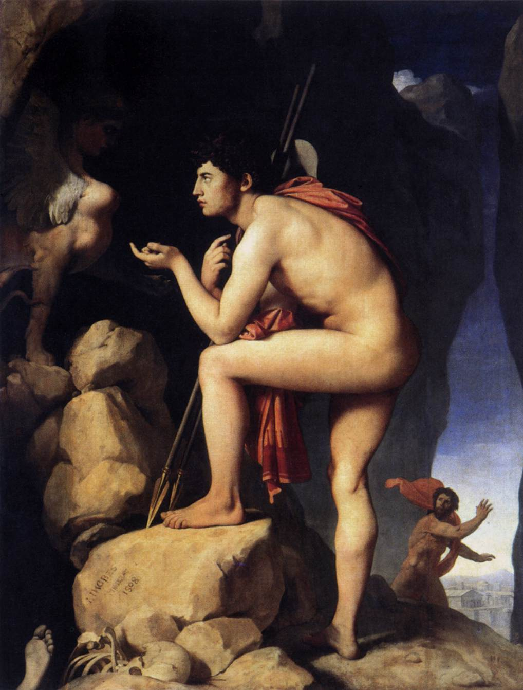 Jean Auguste-Dominique Ingres - Oedipus and the Sphynx, 1808-25