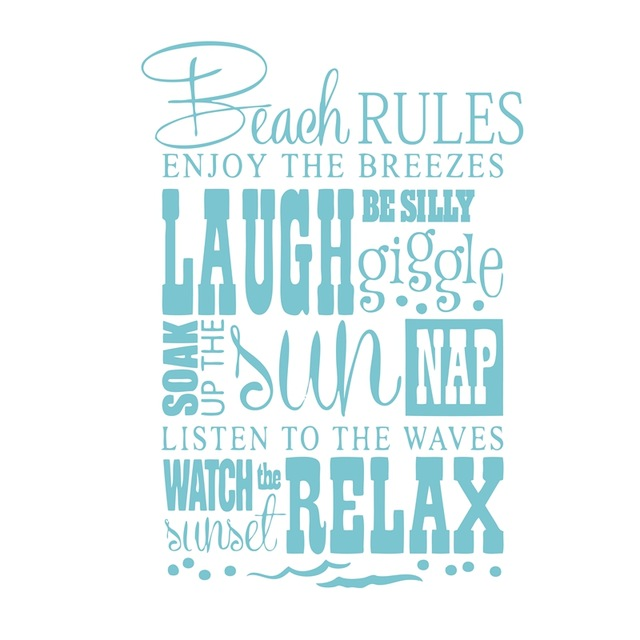 Free-Shipping-Beach-Rules-Beach-quotes-vinyl-wall-decal-stickers.jpg_640x640