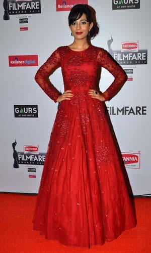 Amrita Rao graces the red carpet at the 60th Britannia Filmfare Awards