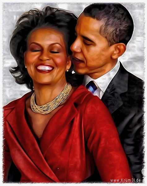 """Barack and Michelle Obama"" by Kruemel Sangerhausen"