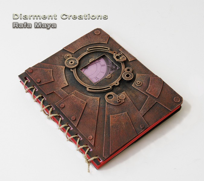 """Notebook Red Steampunk"""