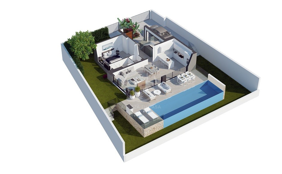 Polopp Villas - plot 1 - AQUA ground floor infographic