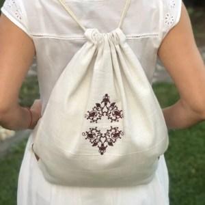 ručne tkaný ruksak