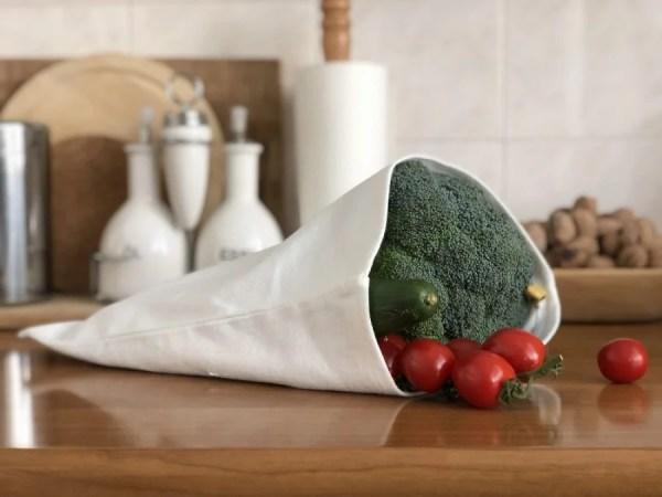 ľanové vrecko na zeleninu