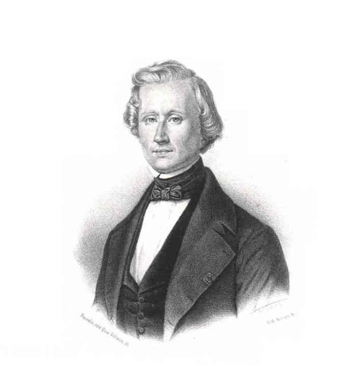 Un retrato decimonónico de Urbain Le Verrier. Auguste Bry