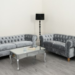 Velvet Chesterfield Sofa Suite Single Seater Bed Singapore Canterbury Crushed 3 2