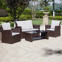4 Piece Algarve Rattan Sofa Set for patios, conservatories