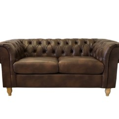 Leather Chesterfield Sofa Beige Slipcovers For Sofas Dark Tan Air Button Seatee Abreo