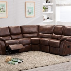 Brown Leather Recliner Sofa Uk 2 Person Sleeper Ludlow Reclining Corner Abreo Home Furniture
