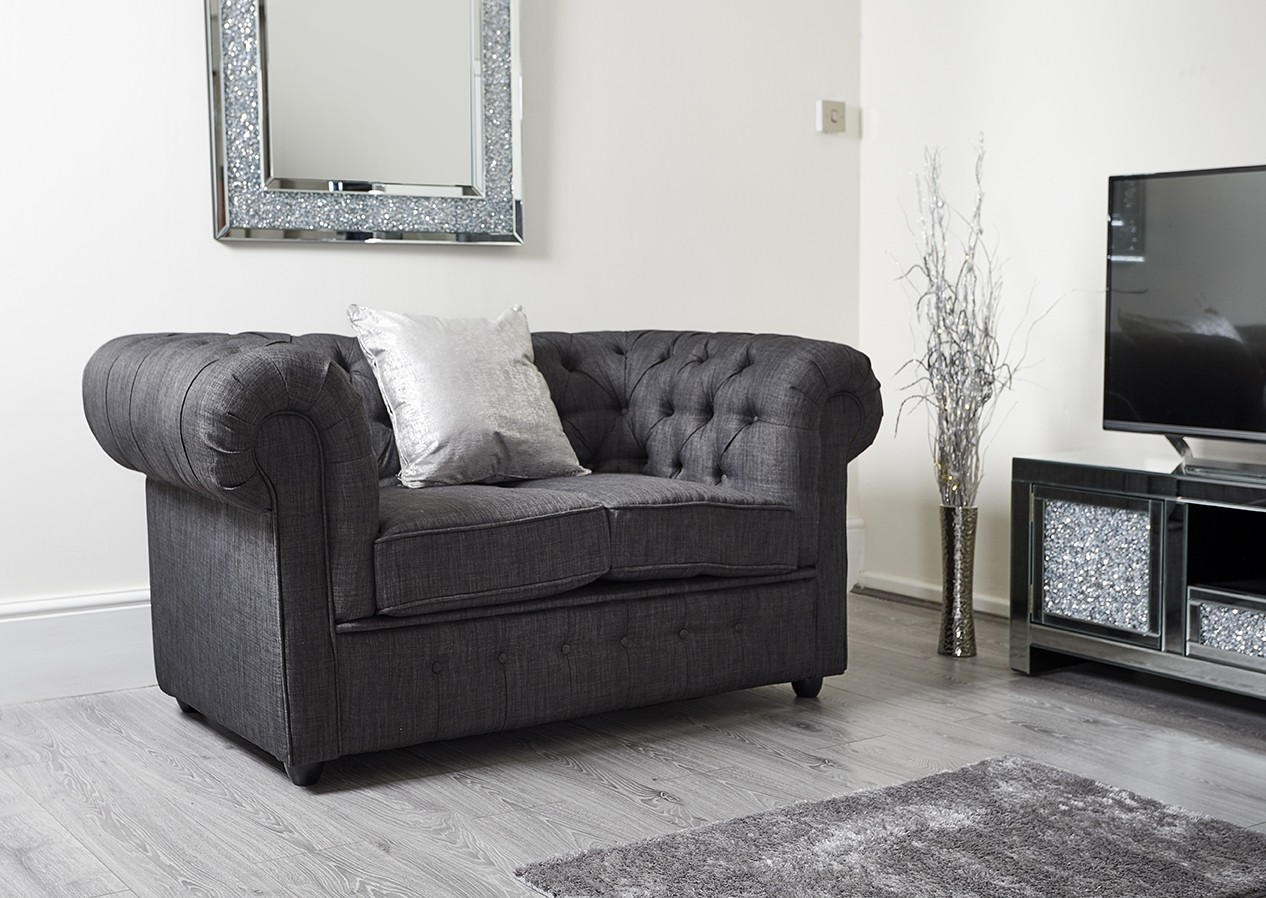gray linen chesterfield sofa on kijiji st john s nl charcoal dark grey 2 seater abreo home