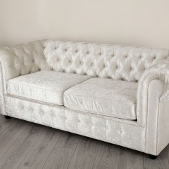 Velvet Chesterfield Sofa Prices Camping Empire Arctic Silver Crushed Chesterfields Abreo
